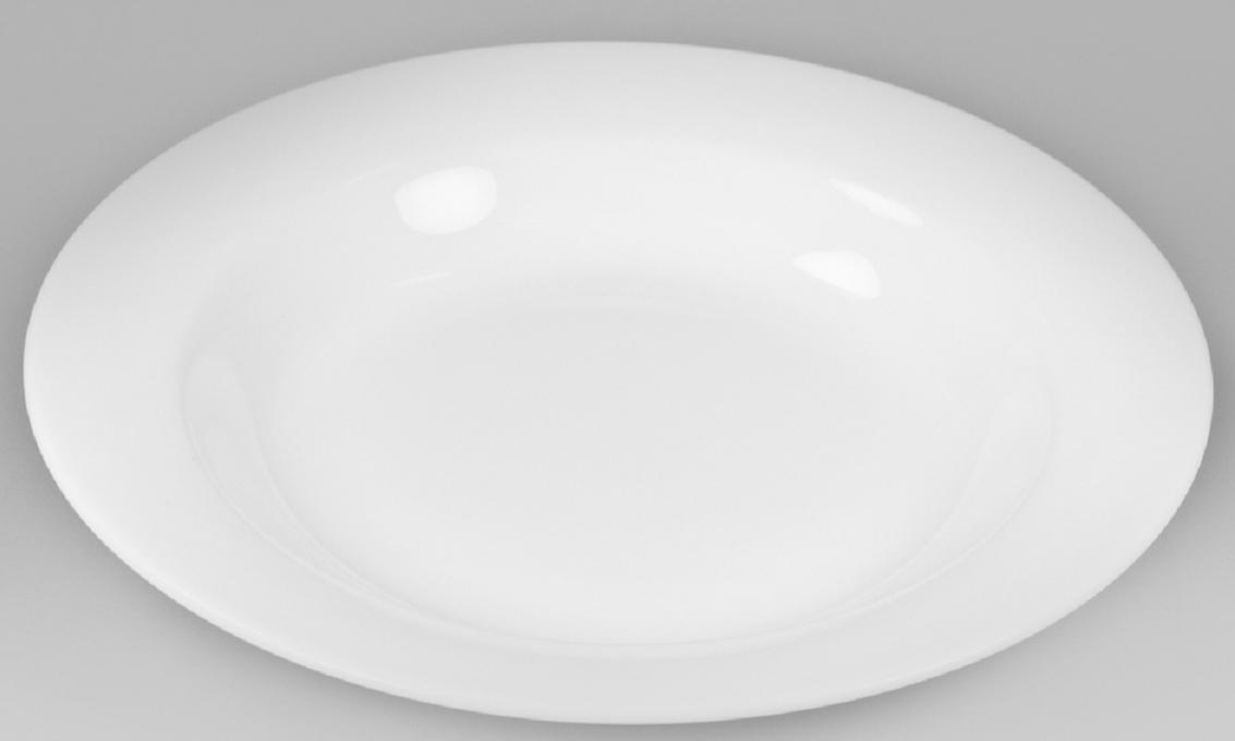 Тарелка для пасты Narumi, 24 смРП-9795-1024Фарфоровые изделия из Японии маркируются на донышке обозначением «CHINA. Made in Japan».«CHINA»-это международное обозначение высококачественного фарфора, происходящее от искаженного титула китайского императора, владеющего монополией на производство фарфора. Обозначение «Bone China» соответствует утонченному и изысканному костяному фарфору, популярность которого сейчас высока как никогда. Посуда из костяного фарфора этой фирмы имеет оригинальные формы, которые выделяют его среди продукции других фабрик. Продукцию этой фабрики характеризует значительная доля высококвалифицированного ручного труда, именно поэтому фарфор представляет собой высокий уровень, проявляющийся в изделиях для повседневного использования и праздничных ситуациях. Строгому контролю подвергаются все стадии подготовки сырьевого материала. Точно подготовленная смесь сырья является основной для получения после обжига высококачественных и стойких фарфоровых изделий, имеющих характерный блеск и прозрачную белизну на коле фарфора. Объединение ручного мастерства и дизайнерской идеи создает декоры, которые подчёркивают особую индивидуальность каждой формы. Сам процесс изготовления также сопровождается контролем качества на всех стадиях. Наряду с нанесением золотой, либо серебряной кромки на посуде вручную для многих декоров применяется особая традиционная техника печати. С помощью выполненных вручную штампов наносятся тонкие орнаменты из драгоценных металлов. Для получения характерного матового (шёлкового) блеска драгоценные металлы на изделиях полируются вручную .После совершения примерно 70 ручных рабочих операций каждый предмет проходит процесс финального контроля, при котором особенно тщательно проверяется его качество как целого изделия. В продажу поступает фарфор только высокого качества, отличающий уже много лет традиционную марку «NARUMI»Костяной фарфор фабрики «NARUMI» можно мыть в посудомоечной машине.