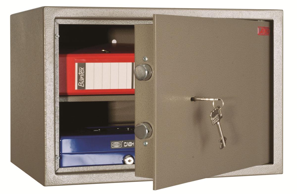 Сейф Aiko TM.30S10399430141Сейф AIKO TM-30 - предназначен для хранения документов и ценностей дома и в офисе.?Устойчивость к взлому - ГОСТ Р 50862-2005, класс Н0; толщина лицевой панели - 5 мм; защита замка от высверливания; комплектуются ключевым замком BORDER;предусмотрена возможность анкерного крепления к полу и стене.