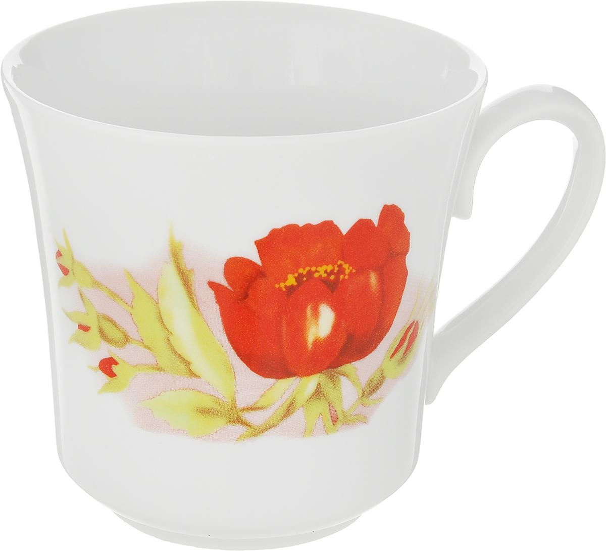 Кружка Дулевский Фарфор Рассвет. Альпийские цветы, 250 мл кружка дулевский фарфор глория роза 210 мл
