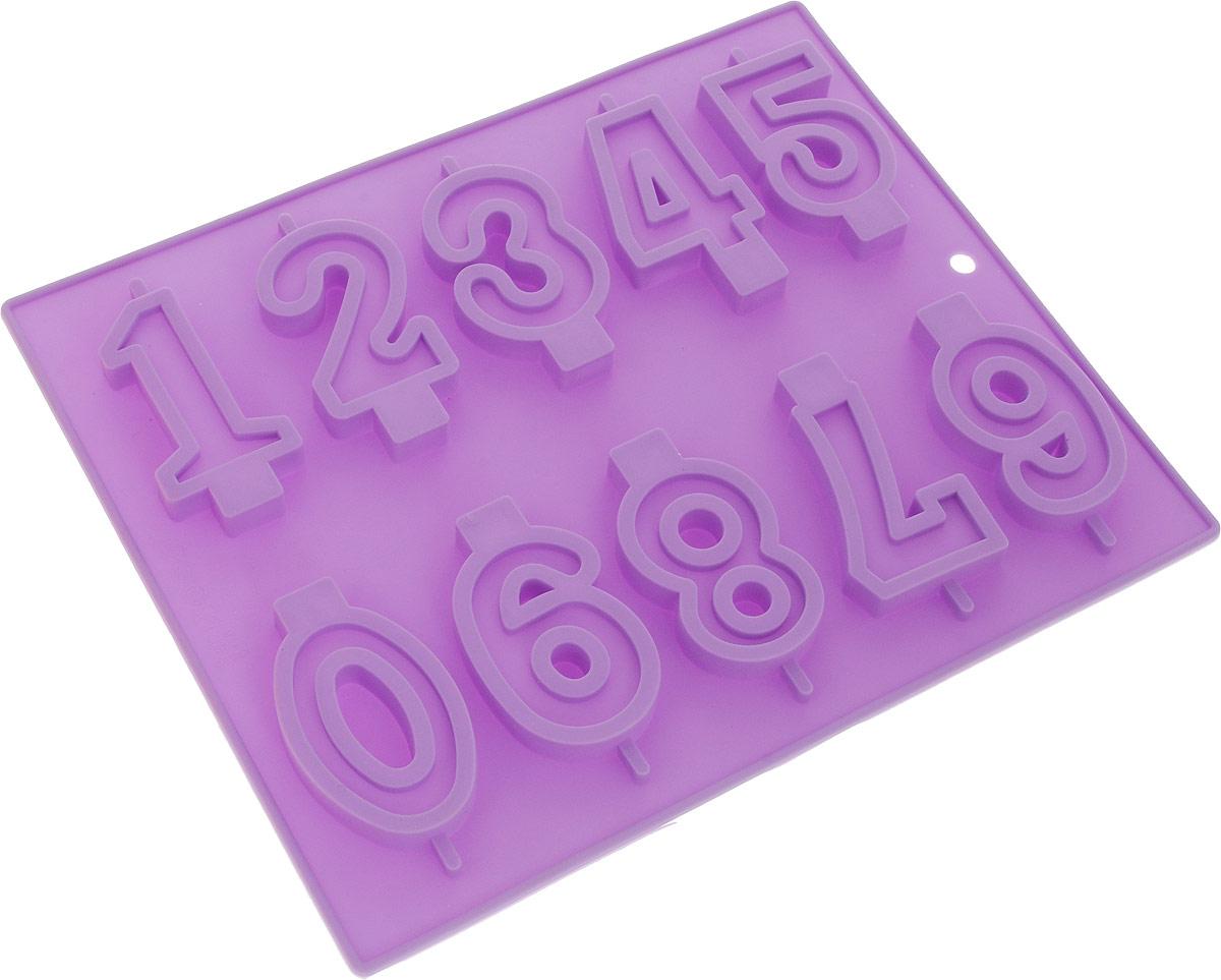 Форма для выпечки Доляна Арифметика, цвет: фиолетовый, 26 х 21 см, 10 ячеек811919_фиолетовыйФорма для выпечки из силикона Доляна Арифметика - современное решение для практичных ирадушных хозяек. Оригинальный предмет позволяет готовить в духовке любимые блюда из мяса,рыбы, птицы и овощей, а также вкуснейшую выпечку.Особенности:- блюдо сохраняет нужную форму и легко отделяется от стенок после приготовления; - высокая термостойкость (от -40°C до 230°C) позволяет применять форму в духовых шкафах иморозильных камерах; - небольшая масса делает эксплуатацию предмета простой даже для хрупкой женщины; - силикон пригоден для посудомоечных машин; - высокопрочный материал делает форму долговечным инструментом; - при хранении предмет занимает мало места. Советы по использованию формы: Перед первым применением промойте предмет теплой водой. В процессе приготовления используйте кухонный инструмент из дерева, пластика или силикона.