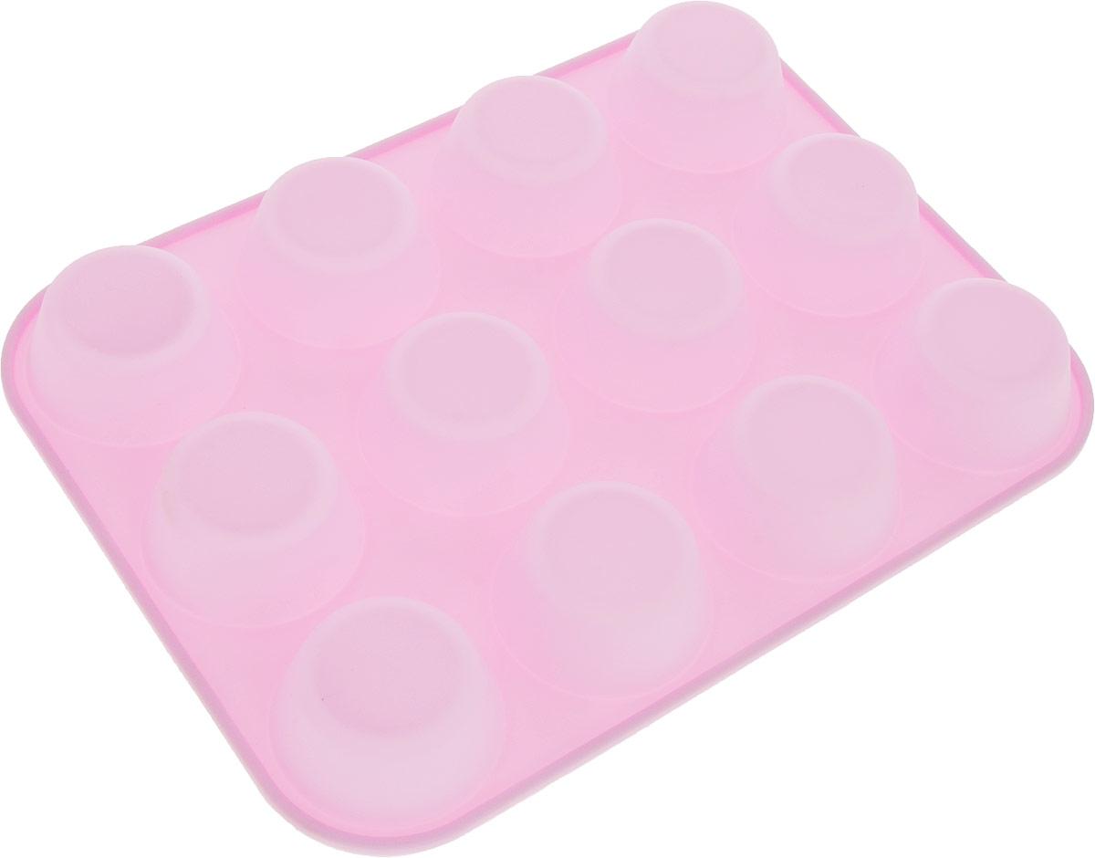 Форма для выпечки Доляна Классика, цвет: светло-розовый, 29,5 х 22 х 3 см, 12 ячеек1166880_светло-розовыйФорма для выпечки из силикона Доляна Классика - современное решение для практичных ирадушных хозяек. Оригинальный предмет позволяет готовить в духовке любимые блюда из мяса,рыбы, птицы и овощей, а также вкуснейшую выпечку.Блюдо сохраняет нужную форму и легко отделяется от стенок после приготовления, высокаятермостойкость (от -40 до 230) позволяет применять форму в духовых шкафах и морозильныхкамерах, небольшая масса делает эксплуатацию предмета простой даже для хрупкой женщины,силикон пригоден для посудомоечных машин, высокопрочный материал делает формудолговечным инструментом, при хранении предмет занимает мало места.Перед первым применением промойте предмет тёплой водой. В процессе приготовленияиспользуйте кухонный инструмент из дерева, пластика или силикона. Перед извлечением блюдаиз силиконовой формы дайте ему немного остыть, осторожно отогните края предмета. Готовьтес удовольствием!Размер: 29,5 х 22 х 3 см.