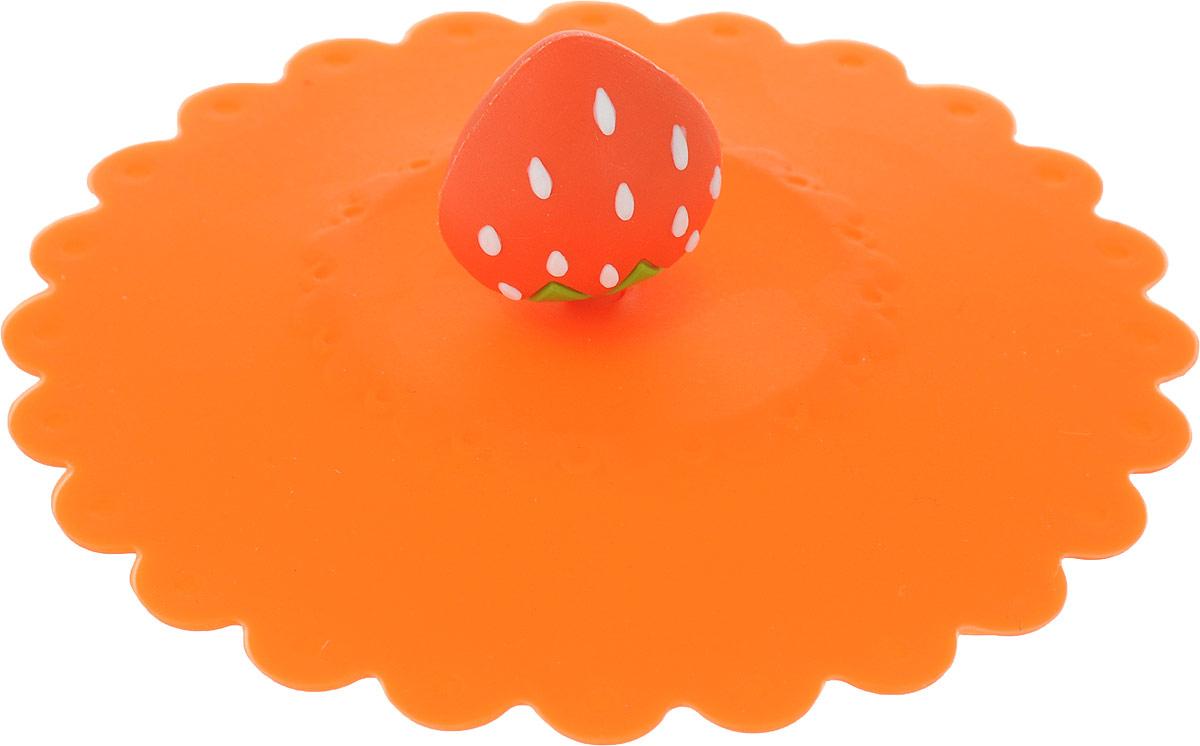 Крышка Доляна Клубничка, цвет: оранжевый, 11 см1166889_оранжевыйКрышка Доляна Клубничка станет незаменимым помощником любой современной хозяйки! Она выполнена из безопасного пищевого силикона, устойчивого к температурам от -40 до +250 градусов. Изделие не впитывает посторонние запахи, удобно в транспортировке и хранении. Яркие света и необычная форма ручки привлекут внимание любого посетителя вашей кухни, а вам поможет не потерять крышку среди остальной посуды. Диаметр крышки: 11 см.