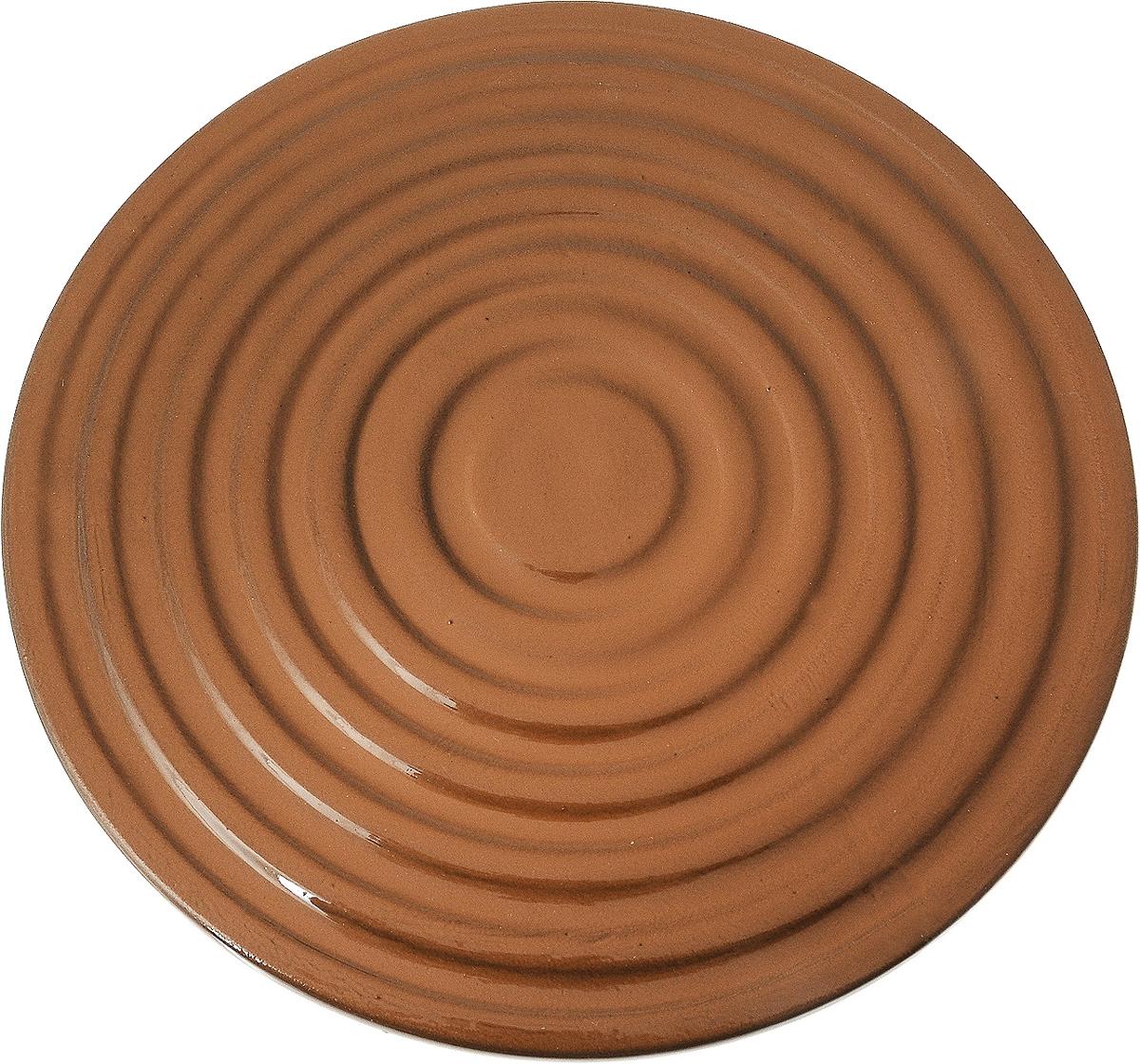 Подставка под горячее Борисовская керамика Стандарт, диаметр 18,5 смОБЧ00000693Подставка под горячее Борисовская керамика Стандарт изготовлена из жаропрочной керамики,что позволяет ей выдерживать высокие температуры.Каждая хозяйка знает, что подставка под горячее - это незаменимый и очень полезный аксессуарна каждой кухне. Ваш стол будет не только украшен яркой и оригинальной подставкой, но исбережен от воздействия высоких температур.