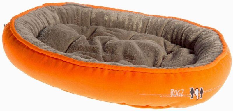 Лежак для кошек Rogz Snug Podz, цвет: оранжевый, 40 x 32 x 8 см лежак для собак rogz luna podz цвет розовый 25 х 52 х 38 см