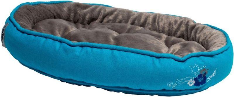 Лежак для кошек Rogz Snug Podz, цвет: голубой, 40 x 32 x 8 смUPXS01Красивый дизайн, мягкость и комфорт.Высококачественный хлопковый материал.Флисовая подкладка.Машинная стирка.