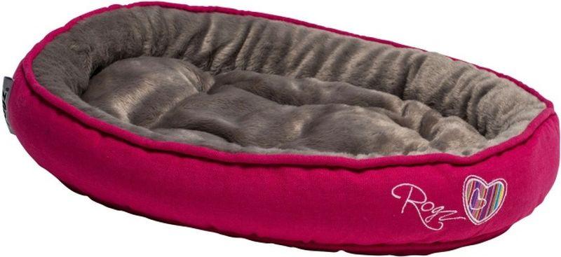Лежак для кошек Rogz Snug Podz, цвет: розовый, 40 x 32 x 8 смL005/A_бежевый, белый, черныйКрасивый дизайн, мягкость и комфорт.Высококачественный хлопковый материал.Флисовая подкладка.Машинная стирка.