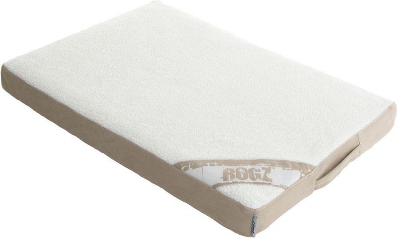 Лежак для собак Rogz  Lounge Pod Flat , со съемным чехлом, цвет: бежевый, 83 x 56 x 8 см - Лежаки, домики, спальные места