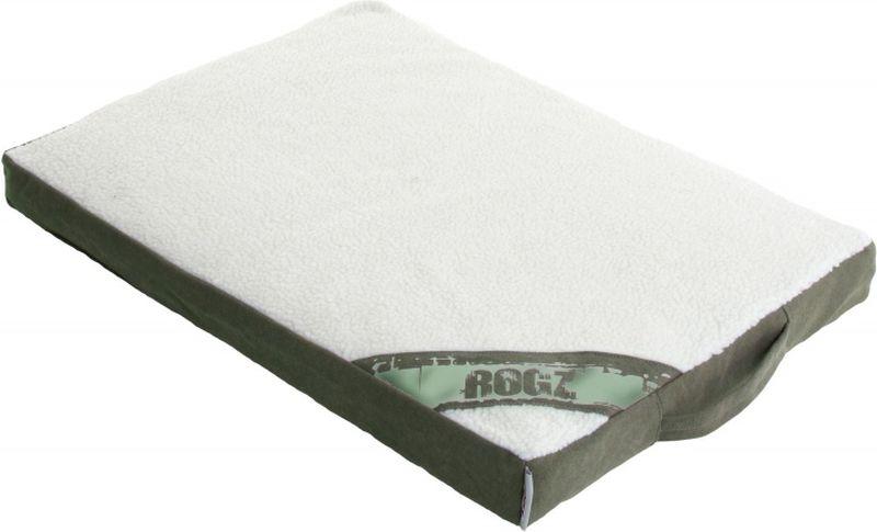 Лежак для собак Rogz Lounge Pod Flat, со съемным чехлом, цвет: оливковый, 129 x 86 x 12 смL005/A_бежевый, белый, черныйСуперкомфортный двусторонний матрас. Высокопрочный материал. Легко стирается. Съемный чехол.