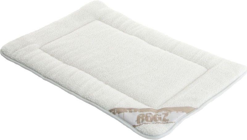 Лежак для собак Rogz Lounge Pod Mat, двусторонний, цвет: бежевый, 69 x 48 x 2 см лежак для собак rogz luna podz цвет розовый 25 х 52 х 38 см