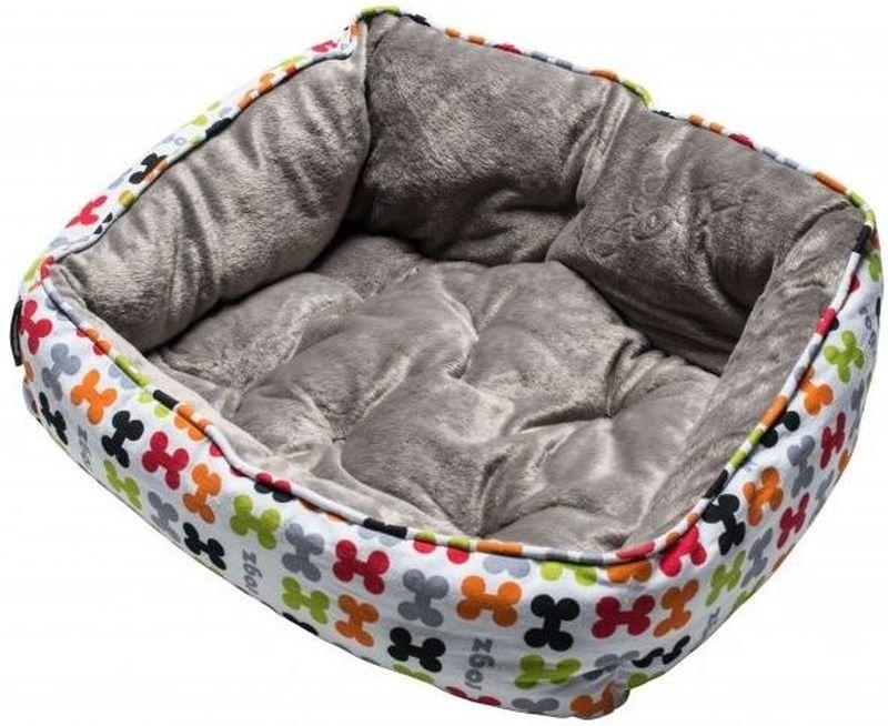 Лежак для собак Rogz Trendy Podz, цвет: мультиколор, 43 x 30 x 18,5 смRPXS03Лежак для собак Rogz Trendy Podz с флисовыми мягкими бортиками и двусторонней подушкой станет уютным и удобным местом для вашего питомца.Можно стирать в стиральной машине.