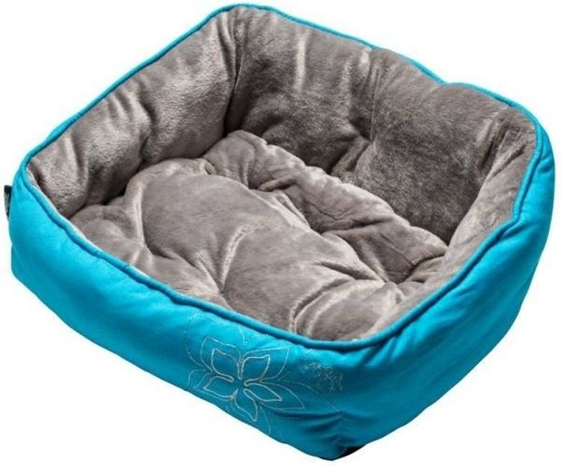 Лежак для собак Rogz Luna Podz, цвет: голубой, 56 x 43 x 29 см лежак для собак rogz luna podz цвет розовый 25 х 52 х 38 см