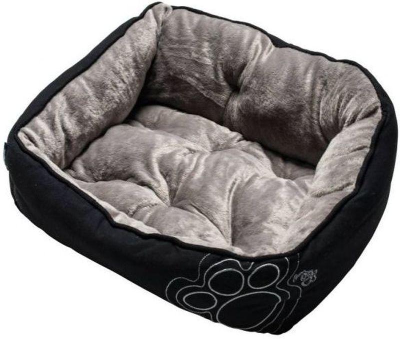 Лежак для собак Rogz Luna Podz, цвет: черный, 48 x 34,5 x 24,5 см rogz лежак для собак rogz spice podz синий l