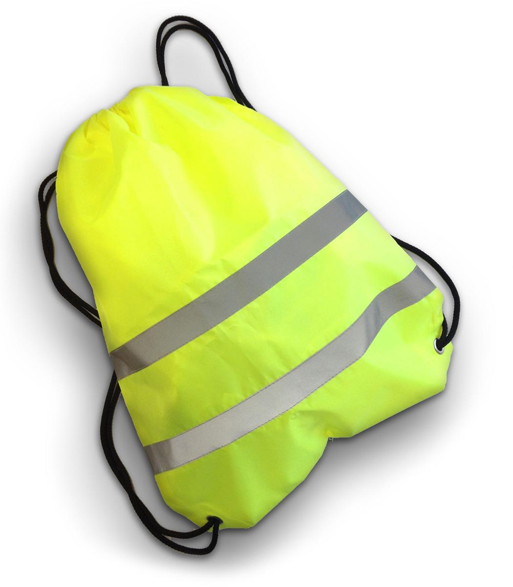 Cova Мешок для обуви со световозвращающими лентами цвет лимонный333-200Мешок для обуви и не только, сделан из качественного материала с водоотталкивающей пропиткой, световозвращающие полосы сделают вас заметным в темное время суток и в условиях плохой видимости. Яркий цвет мешка, поможет быть заметным в дневное время. Идеально подходит для пеших прогулок и для катания на велосипеде или ином другом средстве передвижения.