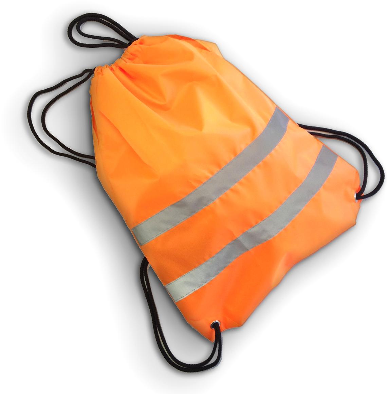 Cova Мешок для обуви со световозвращающими лентами цвет оранжевый333-204Мешок для обуви и не только, сделан из качественного материала с водоотталкивающей пропиткой, световозвращающие полосы сделают вас заметным в темное время суток и в условиях плохой видимости. Яркий цвет мешка, поможет быть заметным в дневное время. Идеально подходит для пеших прогулок и для катания на велосипеде или ином другом средстве передвижения.