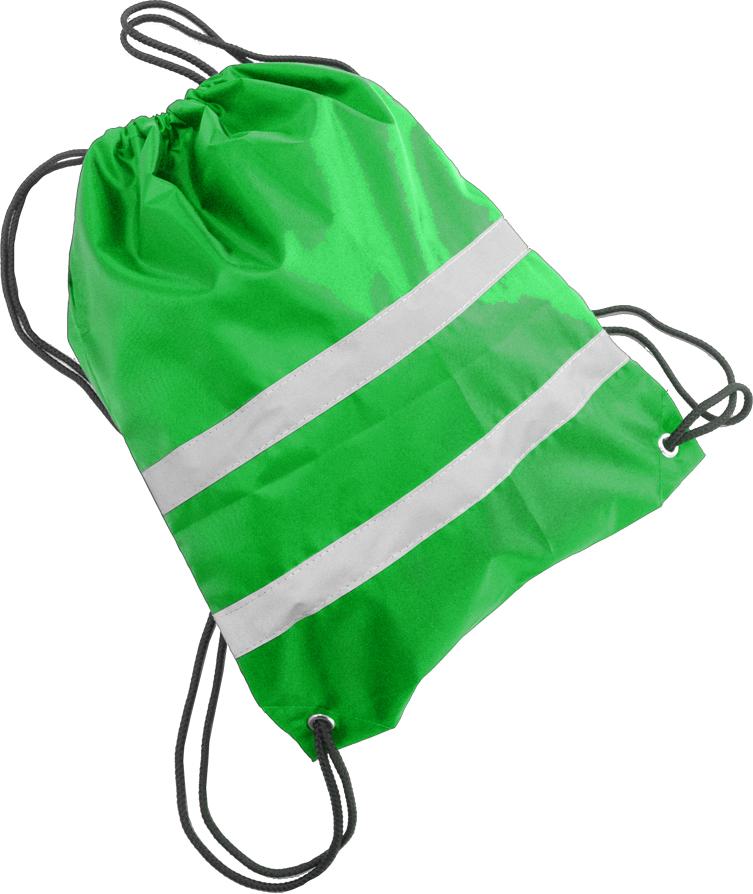 Cova Мешок для обуви со световозвращающими лентами цвет зеленый333-198Мешок для обуви и не только, сделан из качественного материала с водоотталкивающей пропиткой, световозвращающие полосы сделают вас заметным в темное время суток и в условиях плохой видимости. Яркий цвет мешка, поможет быть заметным в дневное время. Идеально подходит для пеших прогулок и для катания на велосипеде или ином другом средстве передвижения.