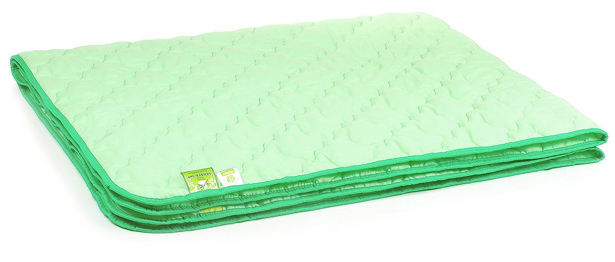 Одеяло Belashoff Бамбук-Эко, цвет: зеленый, 200 х 220 смОБ 2 - 3Коллекция Бамбук-Эко — облегченный вариант изделий с наполнителем из бамбукового волокна: одеяло, стеганое фантазийными узорами стежки, идеально подходит для летнего сезона, а использование современных синтетических тканей повышает износостойкость изделий.