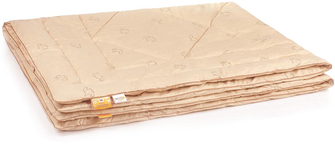 Одеяло Belashoff Караван, стеганое, цвет: бежевый, 140 х 205 смОШВ 4 - 1Изделия из верблюжьей шерсти подарят Вам не только теплый комфортный сон, но и здоровье. В нашей коллекции Караван наполнитель из верблюжьей шерсти с использованием новейшей технологии ее обработки — упругий и мягкий одновременно, обладает чудесным свойством снимать напряжение, накопившееся у человека за день.