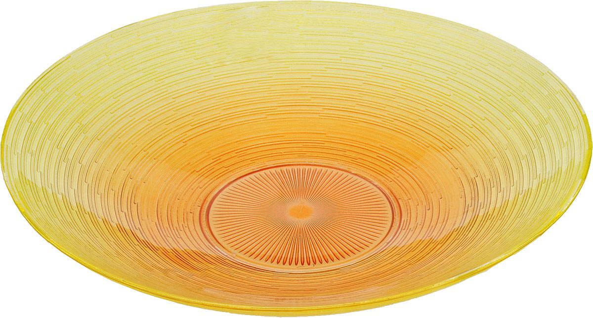 Миска NiNaGlass Риски, цвет: желто-оранжевый, 40 х 40 х 8 см83-012-Ф40 РЖ-ОРЖМиска глубокая NiNaGlass Риски изготовлена из качественного стекла. Поверхность мискиимеет вырезной принт и неровные края. Такое изделие будет оригинально смотреться на вашемстоле.