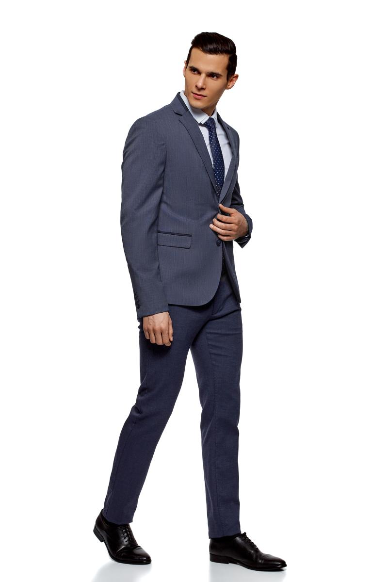 Пиджак мужской oodji Lab, цвет: синий, темно-синий. 2L420222M/47761N/7579O. Размер 54-182 (54-182) пиджак мужской oodji lab цвет темно синий 2l410201m 47076n 7900o размер 48 182