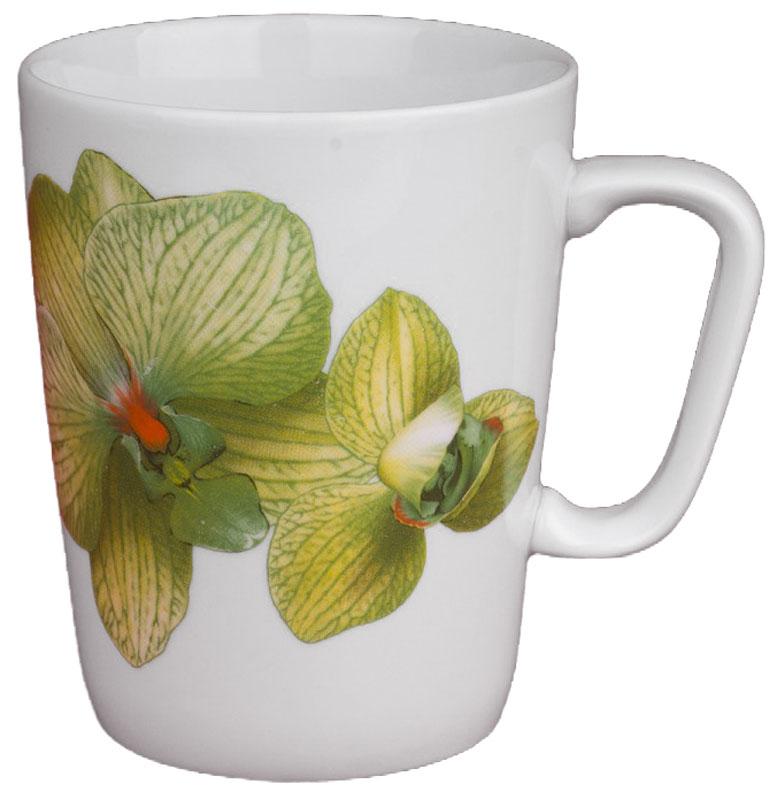 Кружка Дулевский Фарфор Конус. Орхидея зеленая, 350 мл кружка дулевский фарфор европейский день победы 300 мл