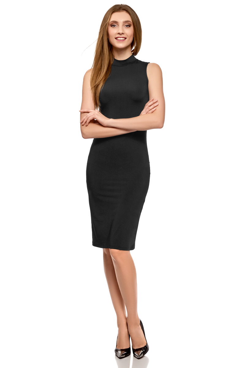 Платье oodji Ultra, цвет: черный. 14005138-3B/46943/2900N. Размер M (46) платье oodji ultra цвет черный 14015017 1b 48470 2900n размер l 48