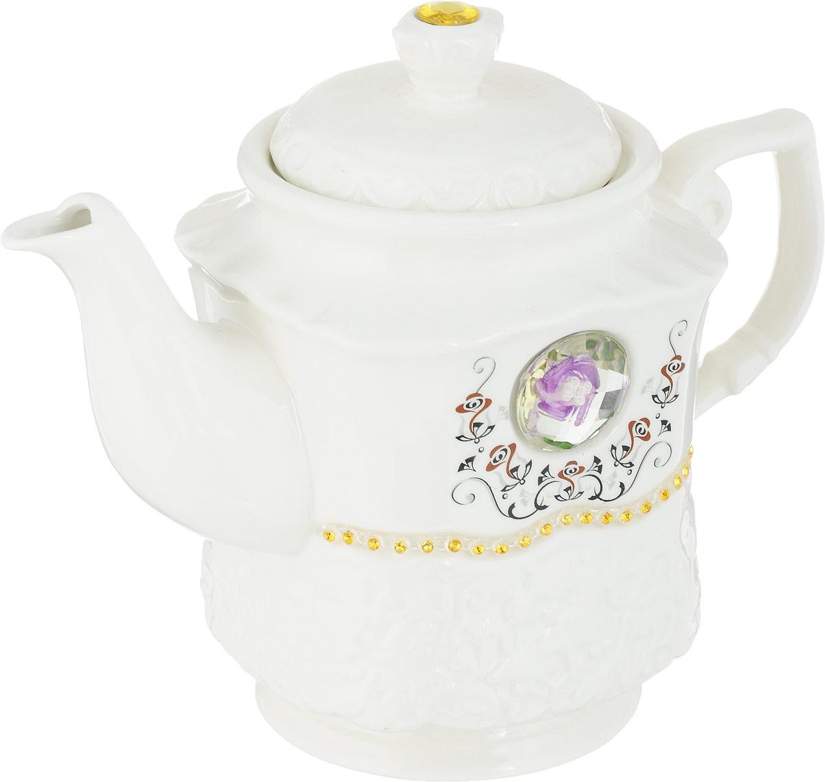 Чайник заварочный Rosenberg 8051 станет не просто полезным аксессуаром на кухне, но и ее украшением. Красивое оформление стола как  праздничного, так и повседневного - это целое искусство. Правильно подобранная посуда - это залог успеха в этом деле. Такой заварочный  чайник из керамики со стразами, придется по вкусу даже самым требовательным хозяйкам.