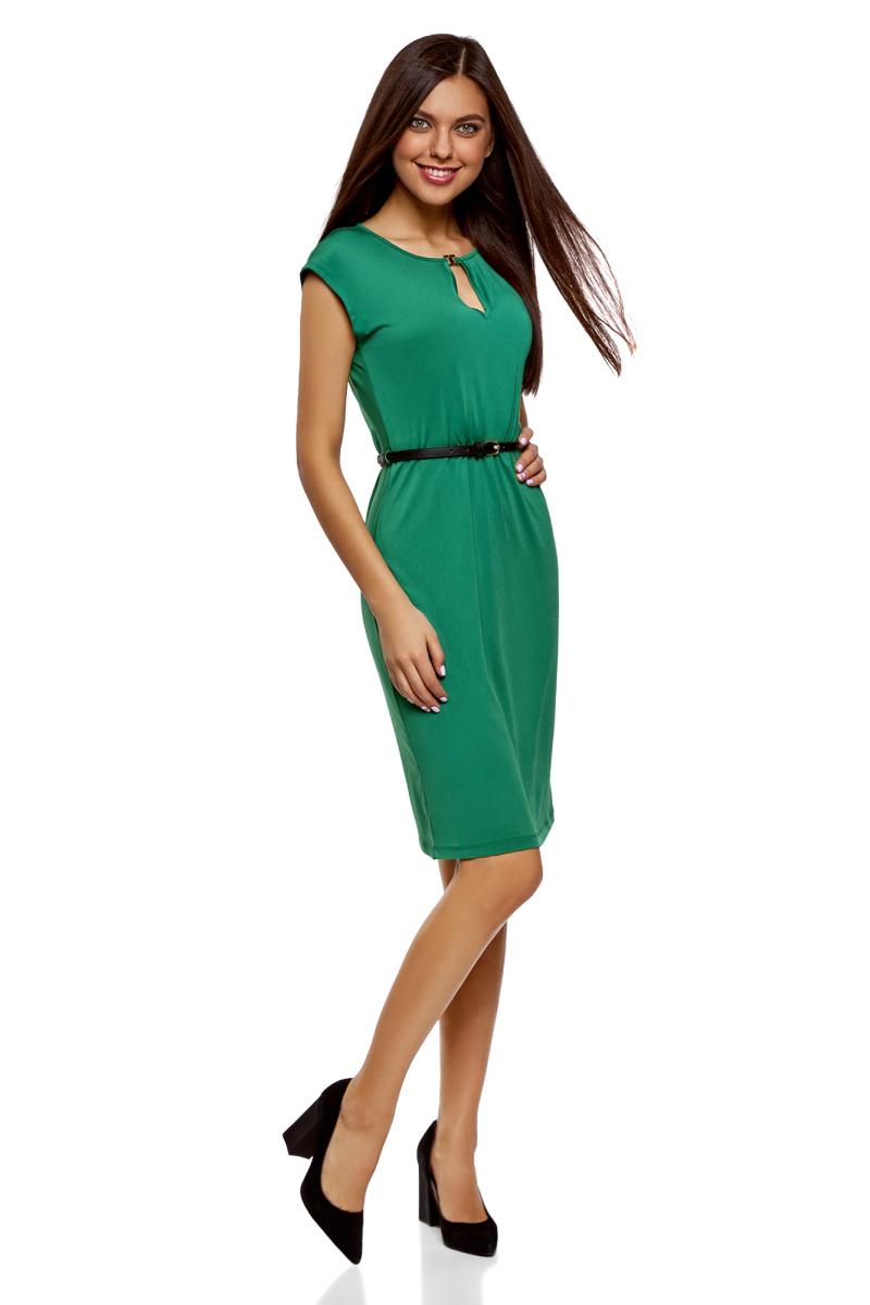 Платье oodji Collection, цвет: темно-изумрудный. 24008033-5B/46943/6E00N. Размер XS (42) платье oodji collection цвет изумрудный 24015001 1 33038 6d00n размер xs 42