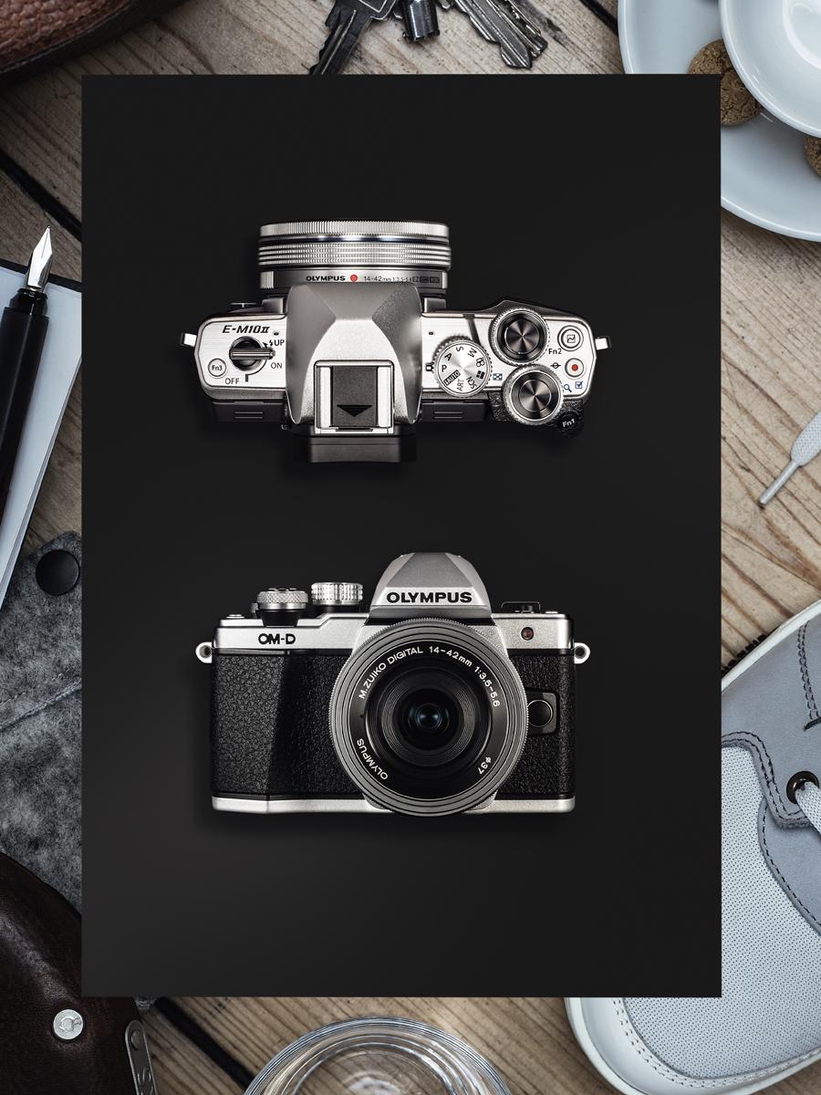Olympus OM-D E-M10 Mark II Kit 14-42 EZ + 40-150 R, Blackцифровая фотокамера Olympus