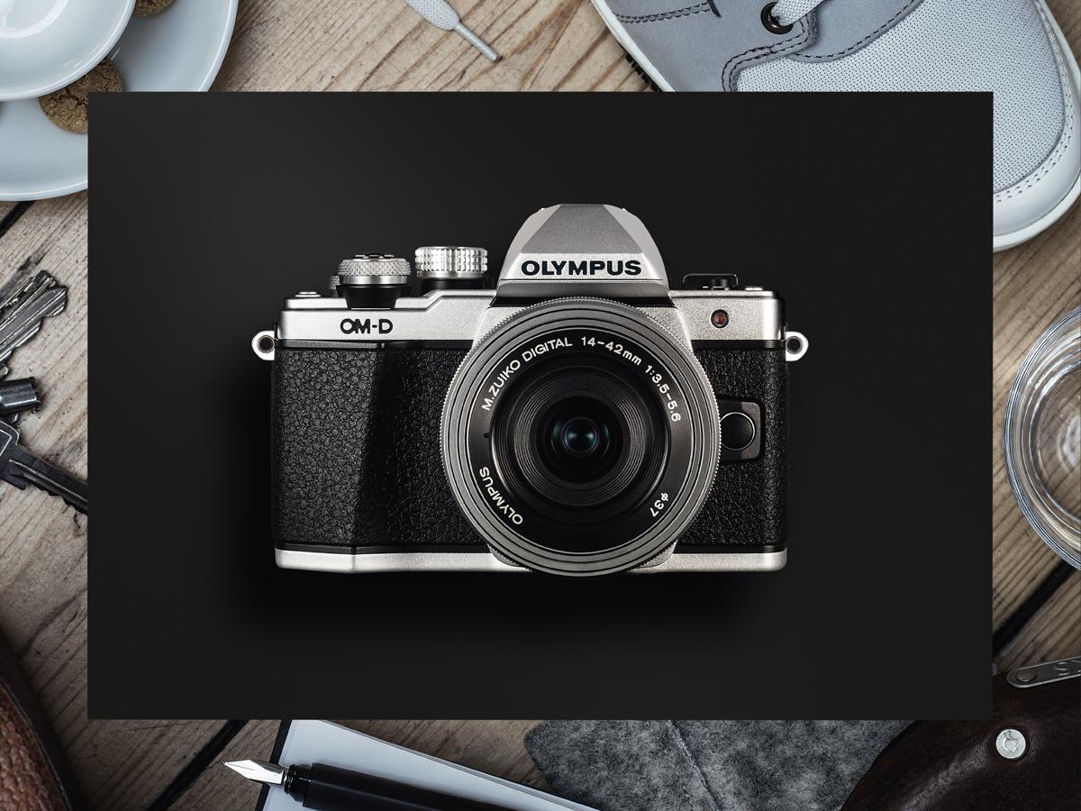 Olympus OM-D E-M10 Mark II Kit 14-42 EZ, Silverцифровая фотокамера Olympus