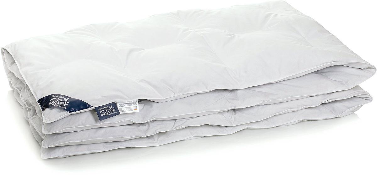 Одеяло Belashoff Silver 800, цвет: белый, 172 х 205 смОSК-1-2Изделия Коллекции 800 - эргономичны и самобытны. Подушки специальной анатомической формы и необычный крой одеяла идеально дополняют друг друга.Изогнутая с одной стороны подушка анатомически подстроена под положение вашего тела во сне. А благодаря наличию изделий с бортиком и без него возможен выбор их степени поддержки.Оригинальный внешний вид придают одеялу данной коллекции нестандартные кассеты, благодаря которым становится возможной циркуляция наполнителя. Таким образом, вы сможете адаптировать наполнение различных частей одеяла под свои потребности.