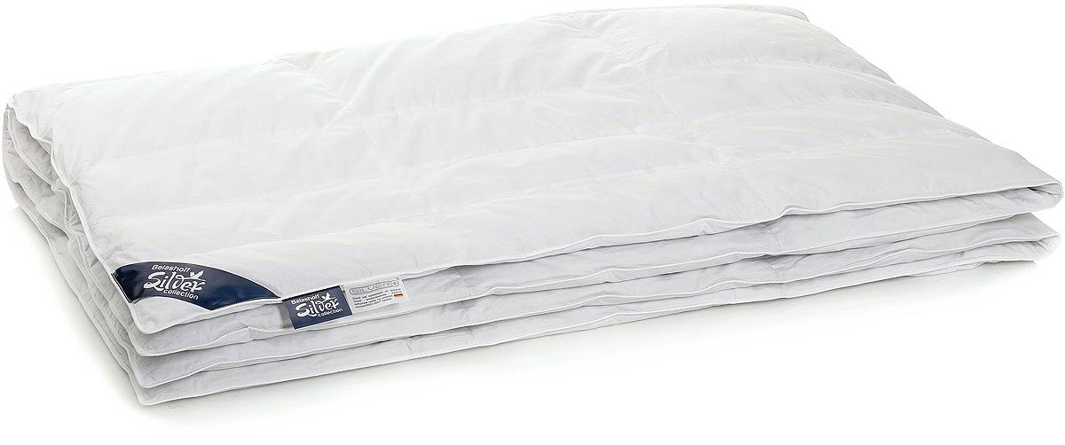 Одеяло Belashoff Silver 875, цвет: белый, 200 х 220 смОSК-3Технологии и инновации сочетаются в изделиях Коллекции 875.Особенностью подушек этой коллекции является валик, который обеспечит правильное положение головы и поддержку шейного отдела позвоночника.Наполнитель валика более упругий и жесткий, в то время как наполнитель основной камеры – мягкий.Одеяла Коллекции 875 выполнены с кассетами разного размера: в центре одеяла кассеты крупные, по бокам – узкие и вытянутые. Таким образом крупные кассеты накрывают Вас сверху, а узкие удлинённые кассеты обнимут Вас с двух сторон.