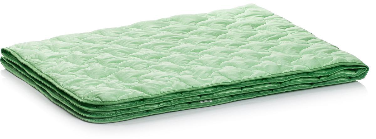 Одеяло Тихий час Бамбук, цвет: зеленый, 172 х 205 смТЧБ 1-4Коллекция Бамбук объединяет подушки, одеяла с наполнителем из бамбукового волокна. Природные антибактериальные свойства бамбука, прочность и долговечность, как нельзя лучше проявили себя в изделиях из домашнего текстиля.Подушки и одеяла не вызывают раздражения и могут быть рекомендованы людям, страдающим от аллергии. Наполнитель на основе бамбукового волокна имеет хорошую воздухопроницаемость и гигроскопичность, благодаря чему поддерживается прекрасный микроклимат.