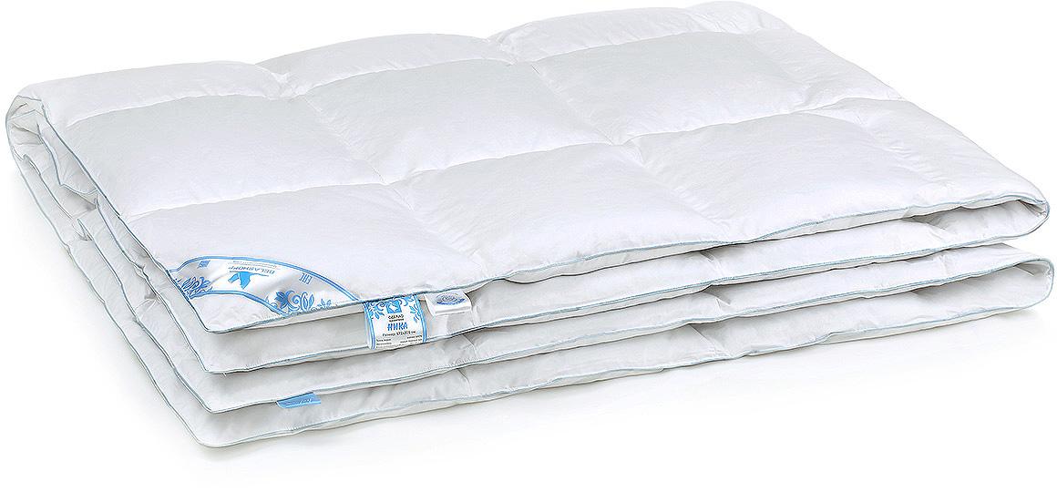 """Особенная коллекция """"Ника"""" — это новый взгляд на качество Вашего сна! Невероятно теплое, легкое одеяло и уникальная подушка подарят Вам комфорт и наслаждение. Мелкое перышко гуся, лежащее в основе внутреннего ядра подушки, придает ей эластичность и упругость, что обеспечивает правильное положение головы во время сна. А серый гусиный пух во внешней оболочке добавляет подушке благородную воздушность и мягкость.  Благодаря новейшим разработкам в коллекции """"Ника"""" у Вас появилась возможность окунуться в мир современного комфорта."""