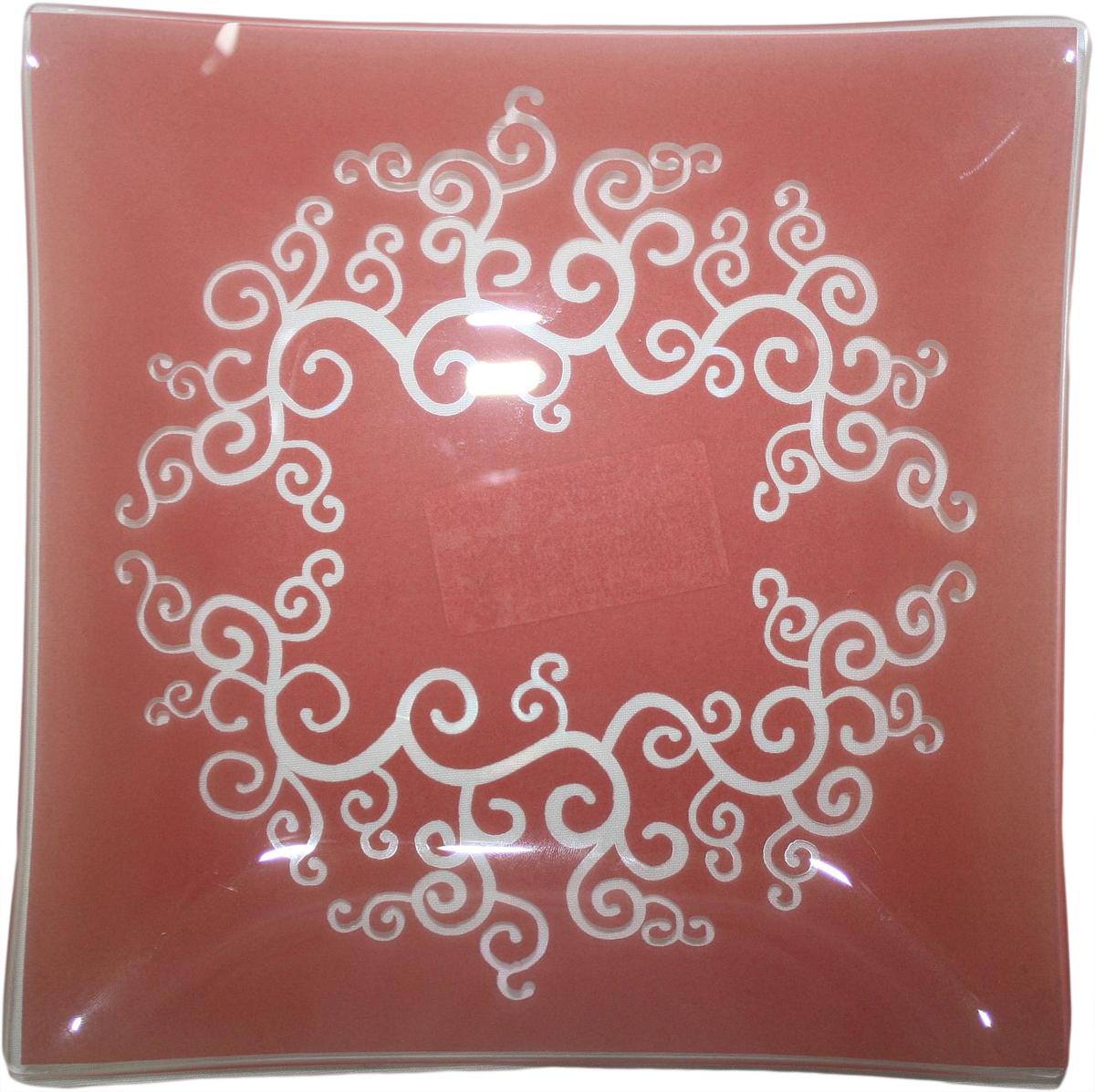 Тарелка десертная NiNaGlass Виктория, цвет: красный, диаметр 20 см85-200*200-030кТарелка NiNaGlass Виктория изготовлена из высококачественного стекла. Изделие декорировано оригинальным узором. Такая тарелка отлично подойдет в качестве блюда, она идеальна для сервировки закусок, нарезок, горячих блюд. Тарелка прекрасно дополнит сервировку стола и порадует вас оригинальным дизайном.