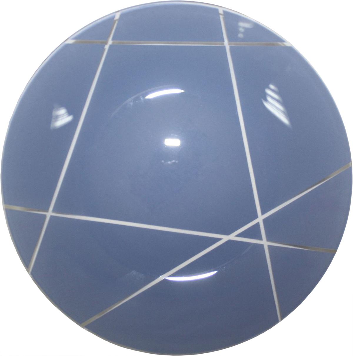 Тарелка десертная NiNaGlass Контур, цвет: голубой, диаметр 20 см85-200-002сТарелка NiNaGlass Конус выполнена из высококачественного стекла и оформлена красивым прозрачным геометрическим принтом. Тарелка идеальна для подачи вторых блюд, а также сервировки закусок, нарезок, салатов, овощей и фруктов. Она отлично подойдет как для повседневных, так и для торжественных случаев. Такая тарелка прекрасно впишется в интерьер вашей кухни и станет достойным дополнением к кухонному инвентарю.