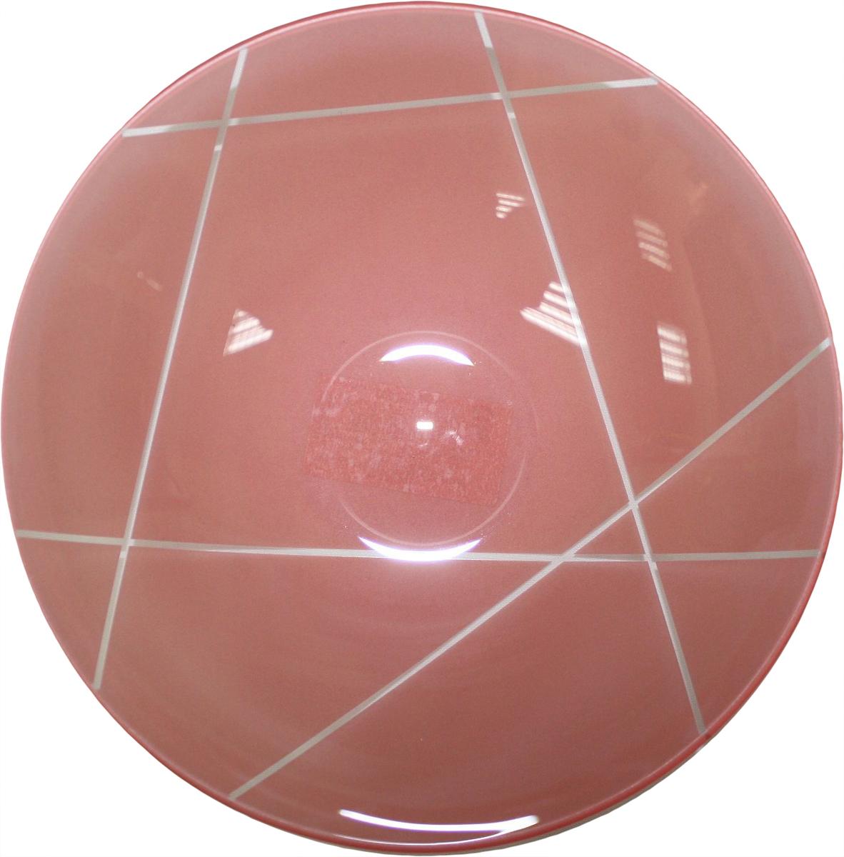 Тарелка глубокая NiNaGlass Контур, цвет: розовый, диаметр 22 см85-225-002пкТарелка NiNaGlass Конус выполнена из высококачественного стекла и оформлена красивым прозрачным геометрическим принтом. Тарелка идеальна для подачи вторых блюд, а также сервировки закусок, нарезок, салатов, овощей и фруктов. Она отлично подойдет как для повседневных, так и для торжественных случаев. Такая тарелка прекрасно впишется в интерьер вашей кухни и станет достойным дополнением к кухонному инвентарю.