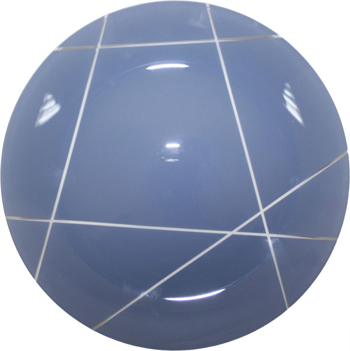 Тарелка NiNaGlass Контур, цвет: голубой, диаметр 26 см85-260-002псТарелка NiNaGlass Конус выполнена из высококачественного стекла и оформлена красивым прозрачным геометрическим принтом. Тарелка идеальна для подачи вторых блюд, а также сервировки закусок, нарезок, салатов, овощей и фруктов. Она отлично подойдет как для повседневных, так и для торжественных случаев. Такая тарелка прекрасно впишется в интерьер вашей кухни и станет достойным дополнением к кухонному инвентарю.