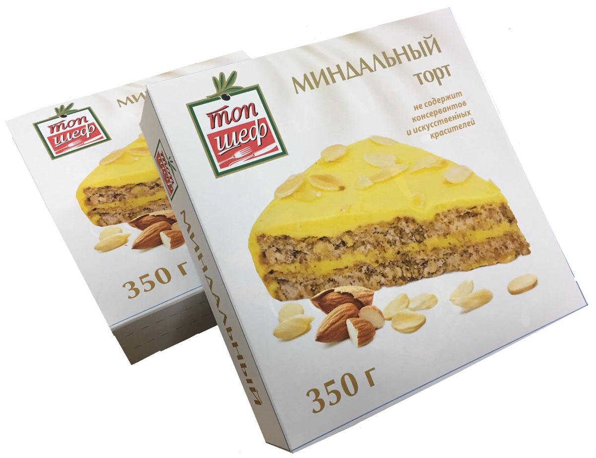 Топ Шеф Торт Миндальный, 350 г4627135258524замороженный миндальный торт
