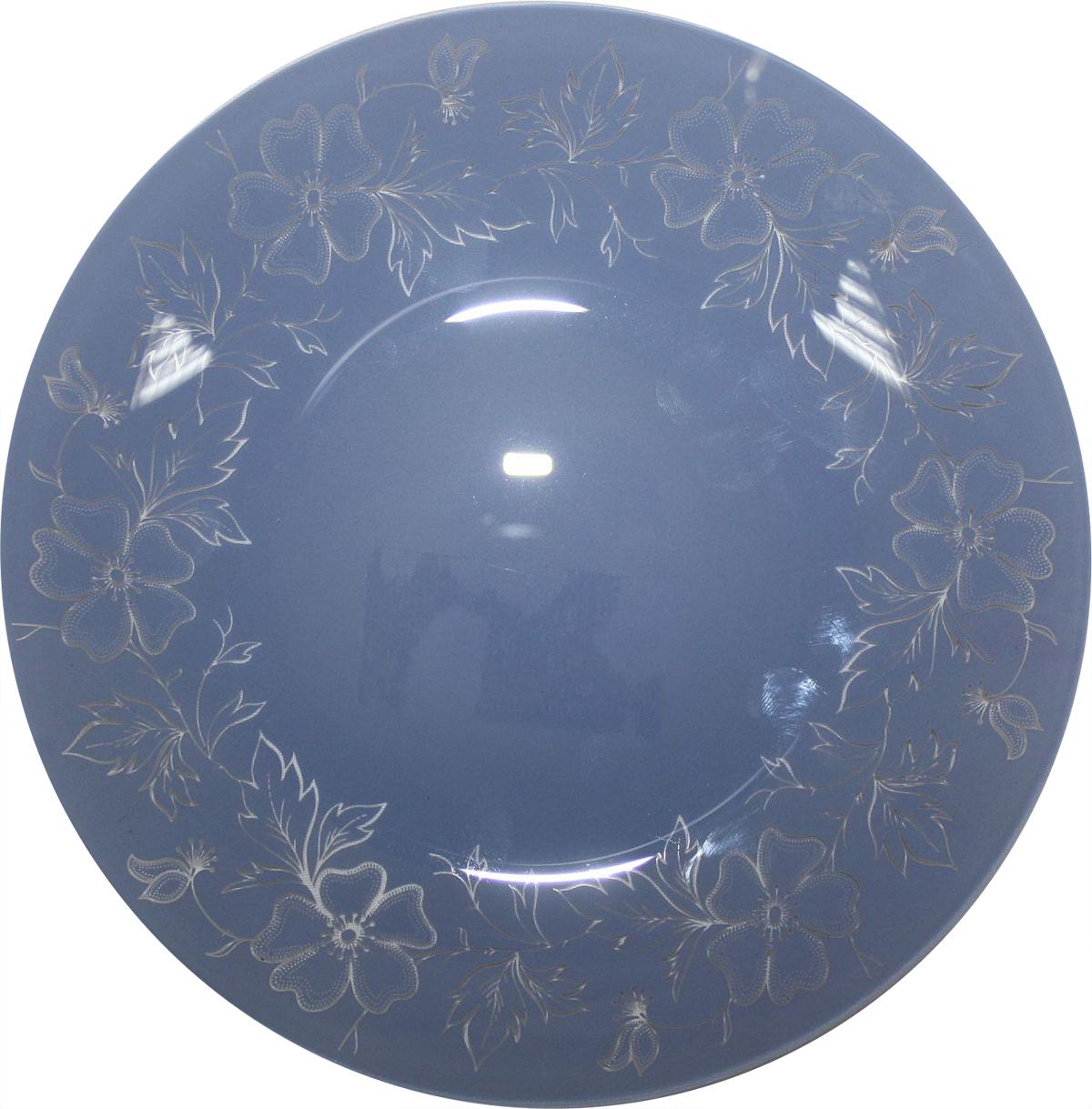Тарелка десертная NiNaGlass Лара, цвет: голубой, диаметр 20 см85-200-075сТарелка NiNaGlass Лара выполнена из высококачественного стекла и оформлена красивым цветочным узором. Тарелка идеальна для подачи вторых блюд, а также сервировки закусок, нарезок, салатов, овощей и фруктов. Она отлично подойдет как для повседневных, так и для торжественных случаев. Такая тарелка прекрасно впишется в интерьер вашей кухни и станет достойным дополнением к кухонному инвентарю.