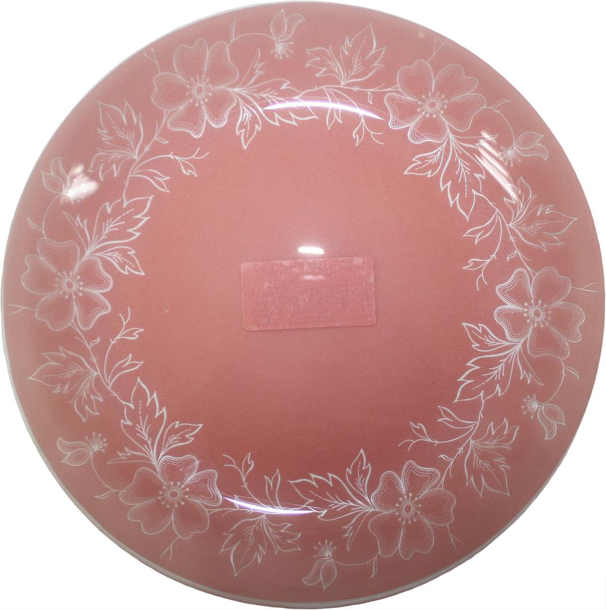 Тарелка NiNaGlass Лара, цвет: красный, диаметр 26 см85-260-075пкТарелка NiNaGlass Лара выполнена из высококачественного стекла и оформлена красивым цветочным узором. Тарелка идеальна для подачи вторых блюд, а также сервировки закусок, нарезок, салатов, овощей и фруктов. Она отлично подойдет как для повседневных, так и для торжественных случаев. Такая тарелка прекрасно впишется в интерьер вашей кухни и станет достойным дополнением к кухонному инвентарю.