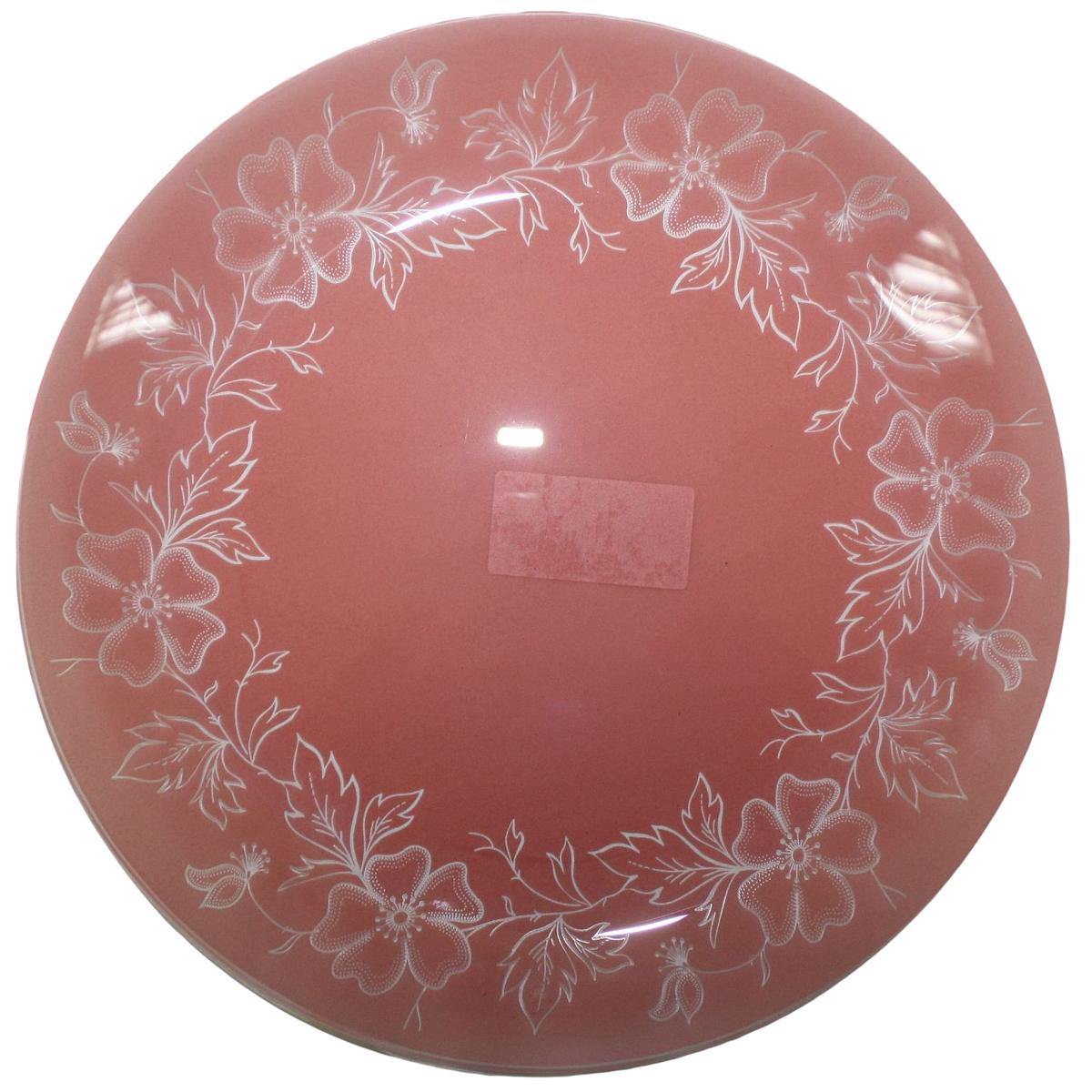 Тарелка NiNaGlass Лара, цвет: красный, диаметр 30 см85-300-075пкТарелка NiNaGlass Лара выполнена из высококачественного стекла и оформлена красивым цветочным узором. Тарелка идеальна для подачи вторых блюд, а также сервировки закусок, нарезок, салатов, овощей и фруктов. Она отлично подойдет как для повседневных, так и для торжественных случаев. Такая тарелка прекрасно впишется в интерьер вашей кухни и станет достойным дополнением к кухонному инвентарю.