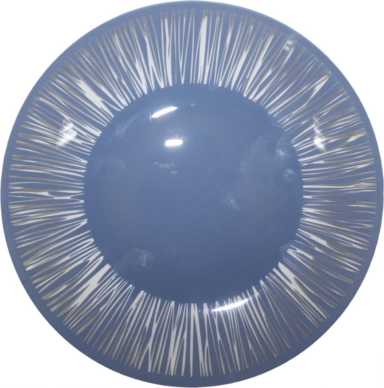 Тарелка десертная NiNaGlass Витас, цвет: голубой, диаметр 20 см85-200-016сТарелка NiNaGlass Витас изготовлена из высококачественного стекла. Изделие декорировано оригинальным дизайном. Такая тарелка отлично подойдет в качестве блюда, она идеальна для сервировки закусок, нарезок, горячих блюд. Тарелка прекрасно дополнит сервировку стола и порадует вас оригинальным дизайном.