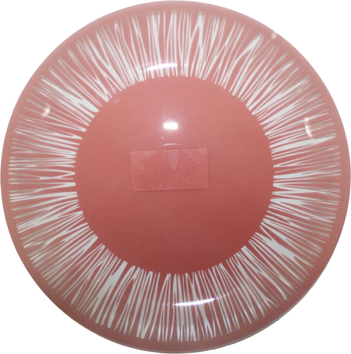 Тарелка NiNaGlass Витас, цвет: красный, диаметр 26 см85-260-016пкТарелка NiNaGlass Витас изготовлена из высококачественного стекла. Изделие декорировано оригинальным дизайном. Такая тарелка отлично подойдет в качестве блюда, она идеальна для сервировки закусок, нарезок, горячих блюд. Тарелка прекрасно дополнит сервировку стола и порадует вас оригинальным дизайном.
