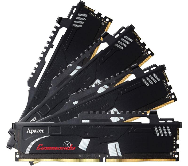 Apacer Commando DDR4 DIMM 4х4Gb 2400 МГц модуль оперативной памяти (EK.16GAT.KEAK4)EK.16GAT.KEAK4Модуль памяти DDR4 серии Apacer Commando с возможностью разгона отличается новым дизайномтеплораспределителя в стиле автоматического карабина и специально разработан для новейшего чипсета IntelX99 и процессора Haswell-E. Вся серия продуктов поддерживает новейшие стандарты Intel XMP 2.0 и обладаетвыдающимися тактическими характеристиками высокой частоты, низкого напряжения и низкой задержки. Высокая стабильность и совместимость позволяют вести длительные спортивные кибербитвы и добиватьсявпечатляющих визуальных эффектов.В модуле памяти DDR4 серии Apacer Commando нового поколения с возможностью разгона реализованы такие философские принципы дизайна, как максимальная емкость и гибкая тактика, в сочетании с максимальным эффектом сбалансированного теплоотвода и стильным внешним видом. Как собрать игровой компьютер. Статья OZON Гид