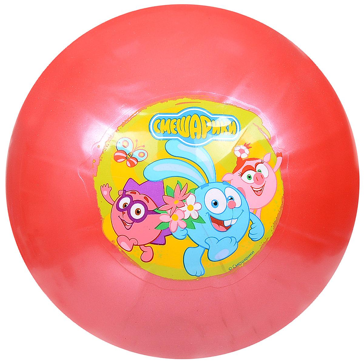 Играем вместе Мяч детский Смешарики цвет красный 23 см