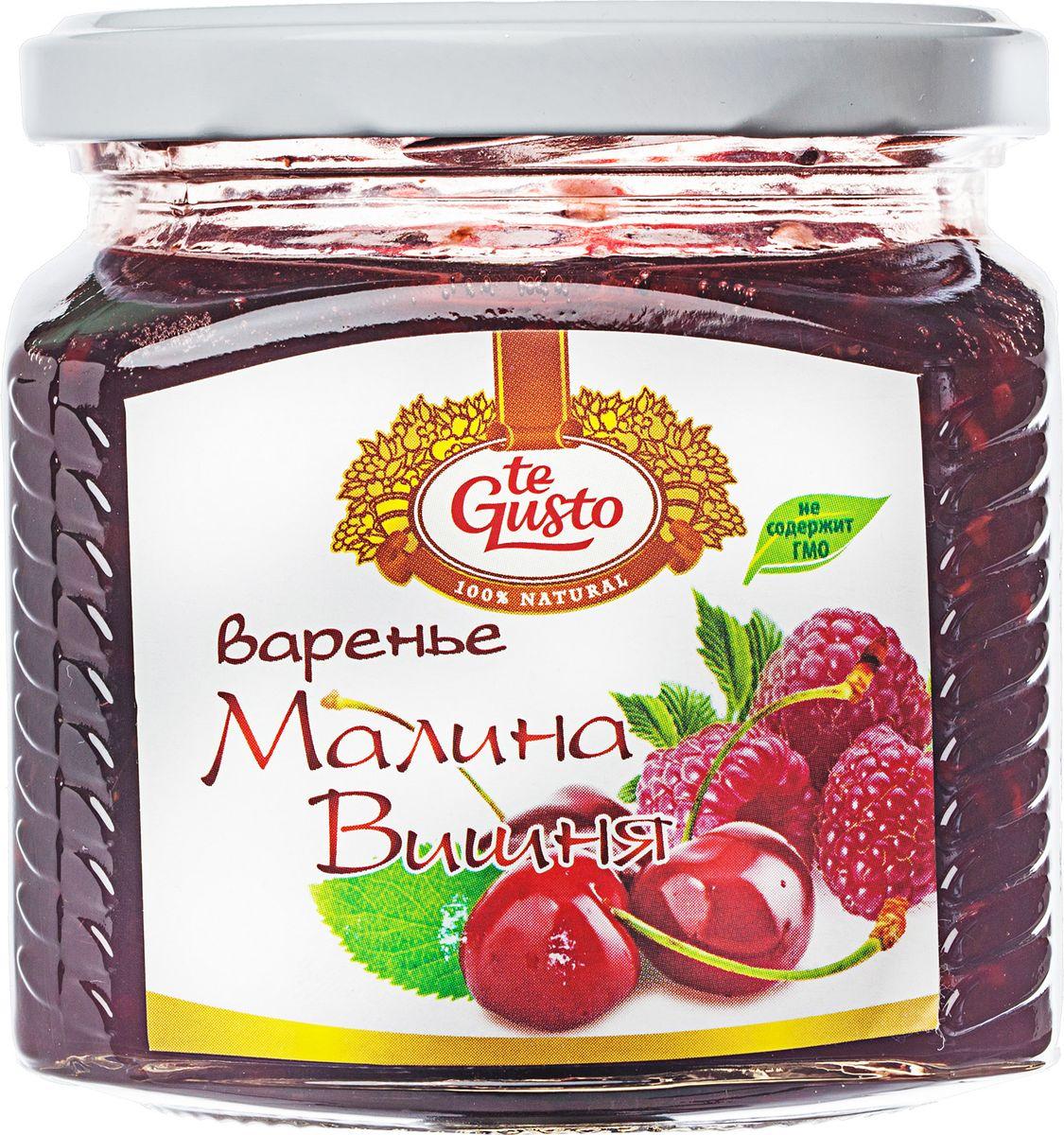 te Gusto Варенье из малины и вишни, 470 г te gusto варенье из сливы 430 г