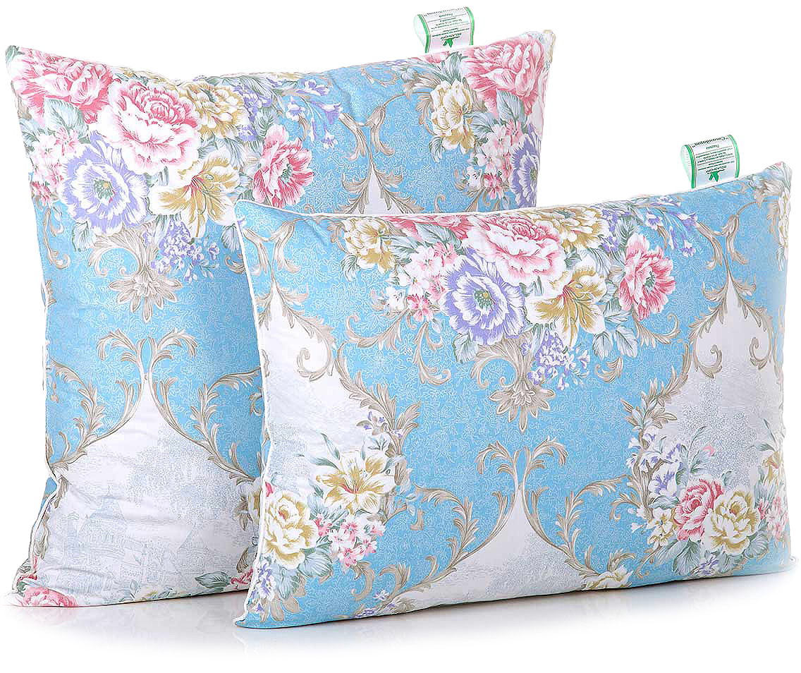 Подушка Belashoff Стандарт, цвет: голубой, желтый, розовый, 50 х 50 смППС 2 - 5Традиционные перопуховые подушки непременно привлекут внимание яркими рисунками тканей и невысокой ценой при отличном качестве наполнителя.