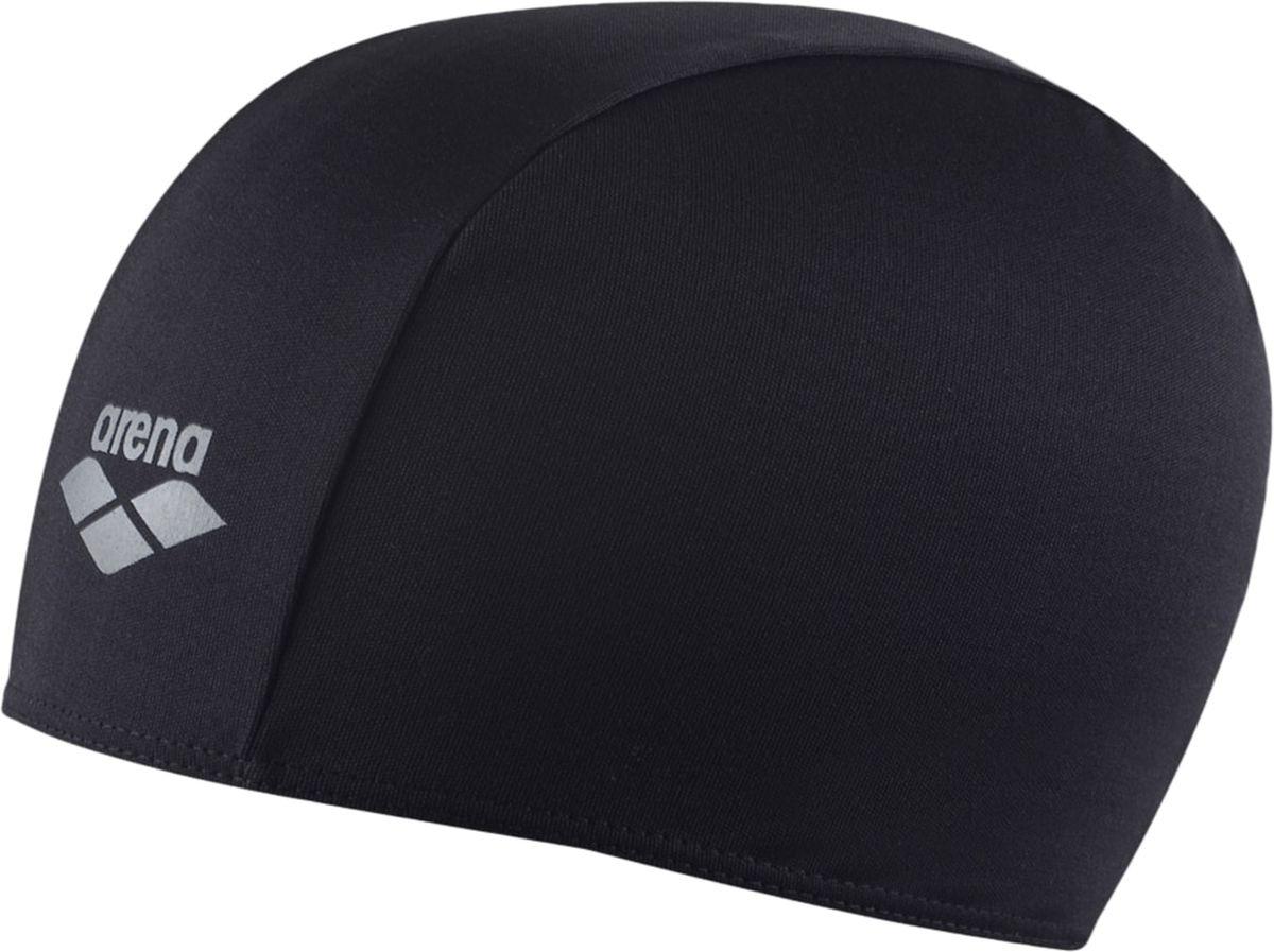 Шапочка для плавания Arena Polyester, цвет: черныйУТ-00002720Шапочка для плавания Polyester - это шапочка для активного отдыха из текстильного материала от всемирно известного бренда Arena. Она очень легкая, так как сделана из полиэстера, и не холодит голову, как силиконовые шапочки. Благодаря трехпанельной эргономичной форме ее легко надевать, при этом шапочка будет плотно держаться наготове, не спадая и не съезжая на глаза.