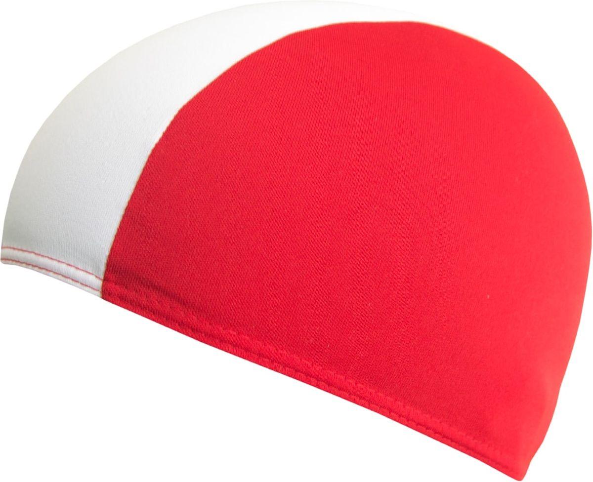 Шапочка для плавания Fashy Shot Shape Polyester, цвет: красный, белыйУТ-00011273Универсальная короткая текстильная шапочка для бассейна из полиэстера. Яркий двухцветный дизайн. Хорошо укрывает волосы и препятствует их попаданию в глаза при плавании.