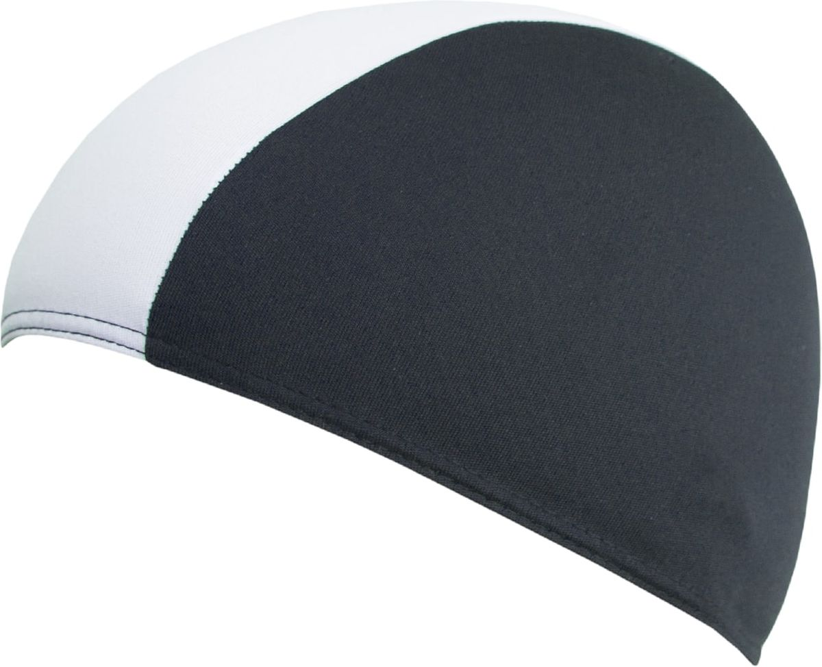 Шапочка для плавания Fashy Shot Shape Polyester, цвет: черный, белыйУТ-00011275Шапочка для плавания Shot Shape Polyester- универсальная короткая текстильная шапочка для бассейна из полиэстера. Она имеет яркий двухцветный дизайн. Хорошо укрывает волосы и препятствует их попаданию в глаза при плавании.